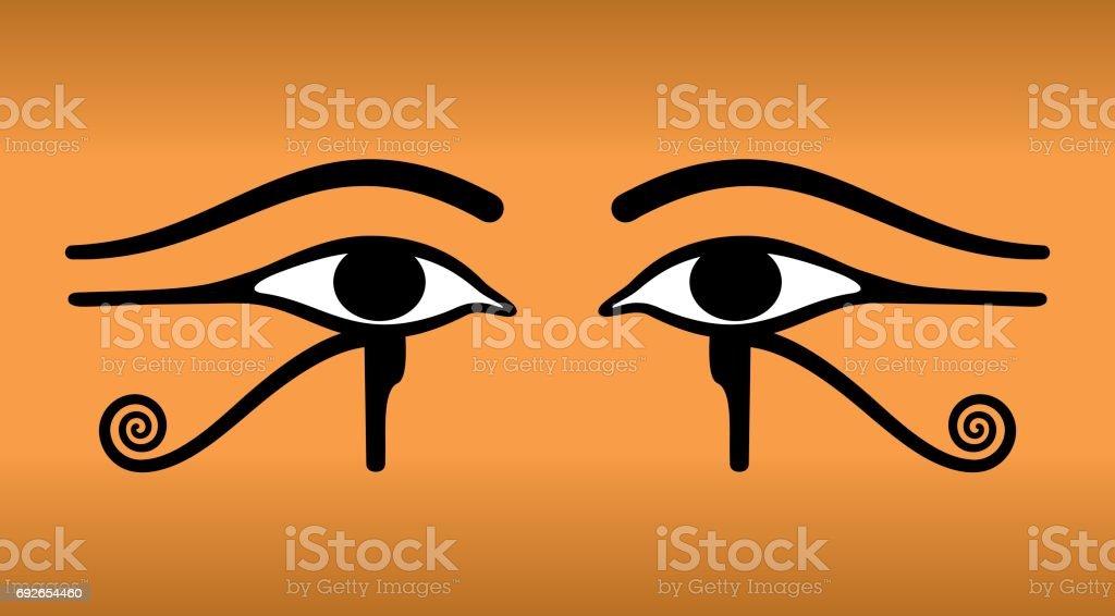 eyes of horus wedjat ancient egyptian symbol stock vector art, Powerpoint templates