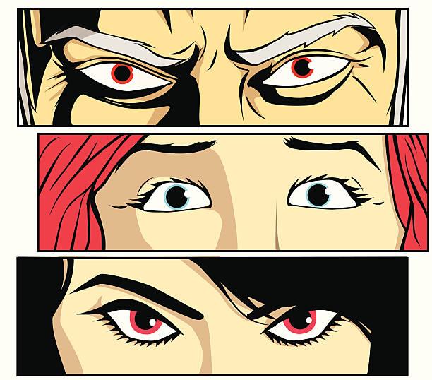 eyes only - anime girl stock illustrations