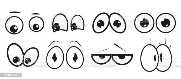 Ilustración de Ojos Configurar Expresión Ojo Abstracto Colección De Elementos De Cara De Los Niños Para Su Diseño Original Vector Moda Alta Calidad Set De Ojos Cartoon y más Vectores Libres de Derechos de Alegre