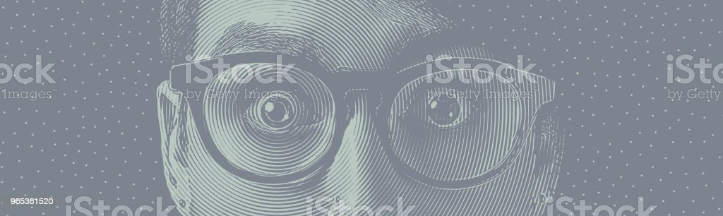 眼睛震動 - 免版稅25歲到29歲圖庫向量圖形