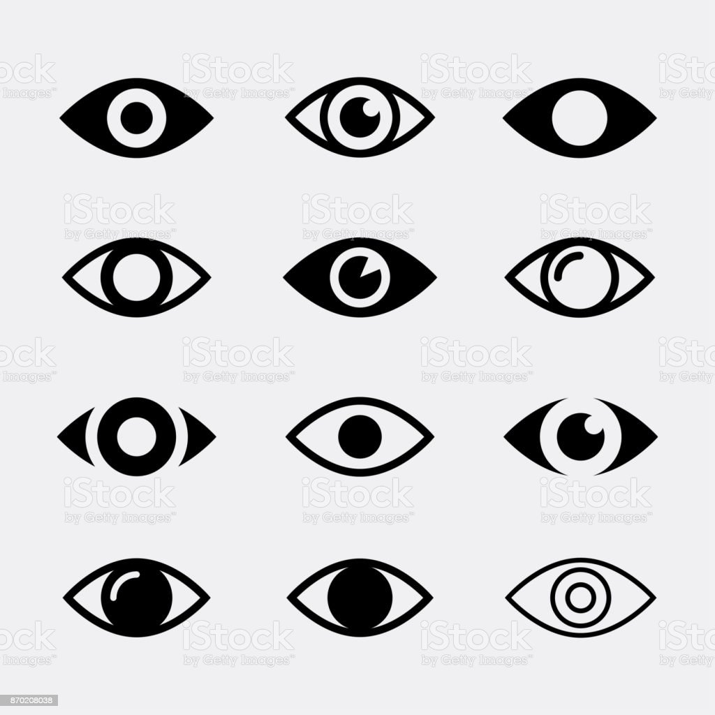 Eyes vector icons