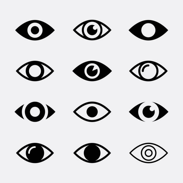 eyes vector icons - глаз stock illustrations