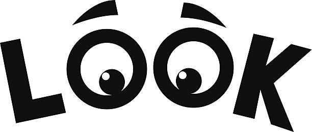 ilustrações, clipart, desenhos animados e ícones de veja olhos - olhar