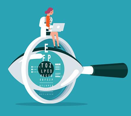 Eyesight - female doctor