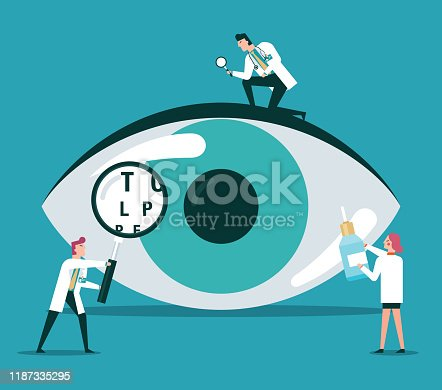 Ophthalmologist Doctor Check Eyesight