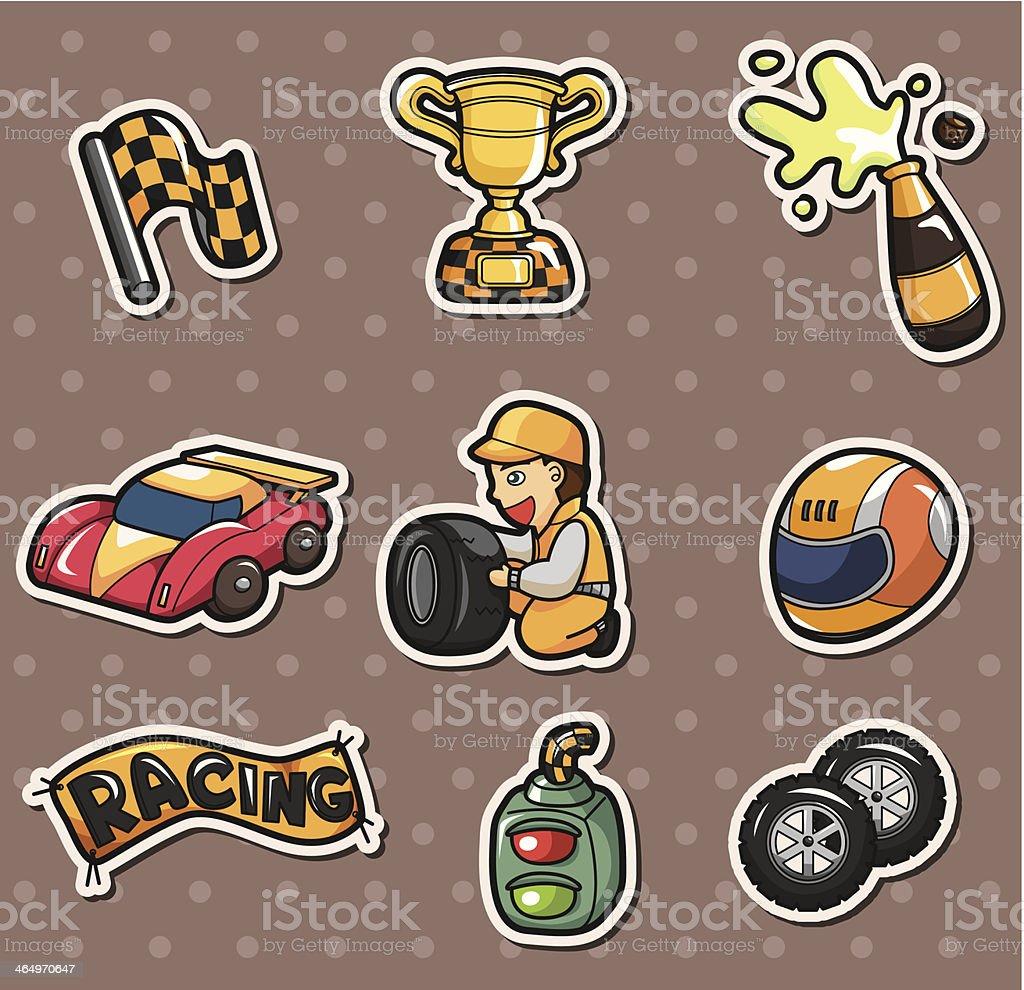 f1 racing stickers vector art illustration