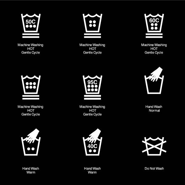 Fabric Care Icon Symbols Vector vector art illustration