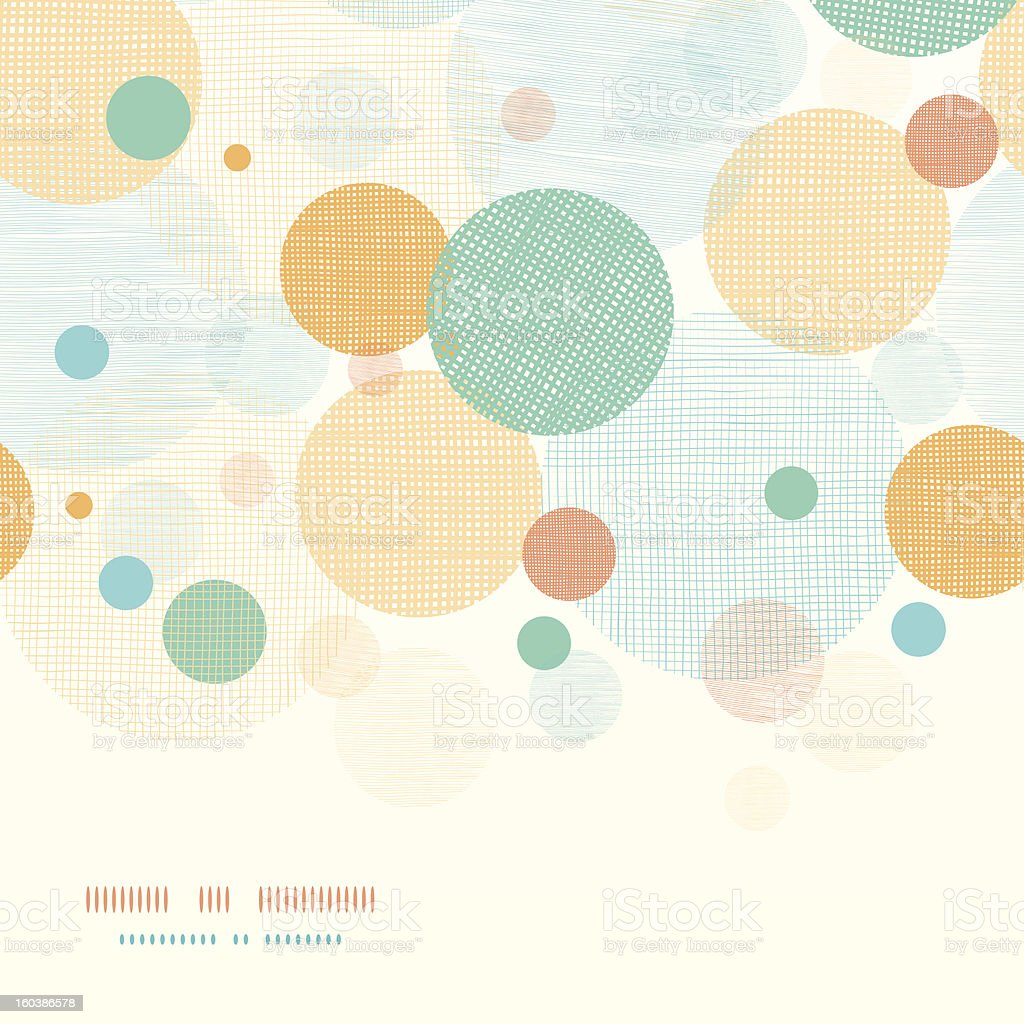 Fabric circles abstract horizontal seamless pattern background vector art illustration