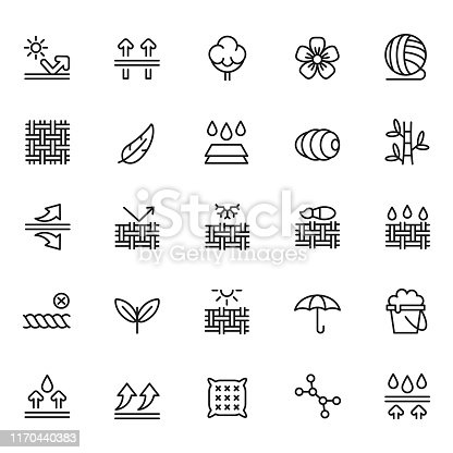 Fabric feature icon set