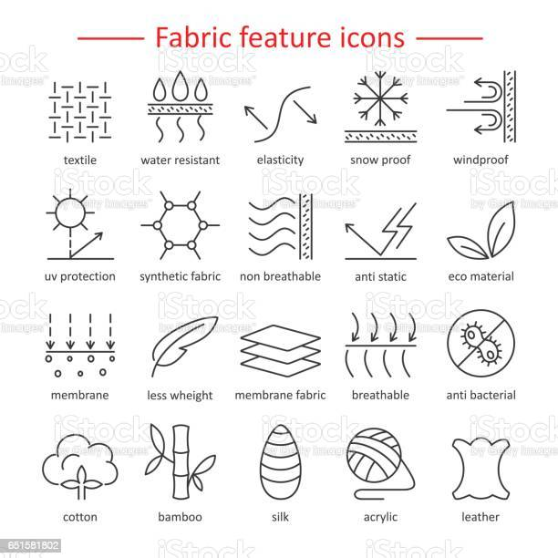 Fabric feature line icons pictograms with editable stroke for g vector id651581802?b=1&k=6&m=651581802&s=612x612&h=o8svstxkxdv7jtzmoptd1njra nxlh7njixrucs2s6w=