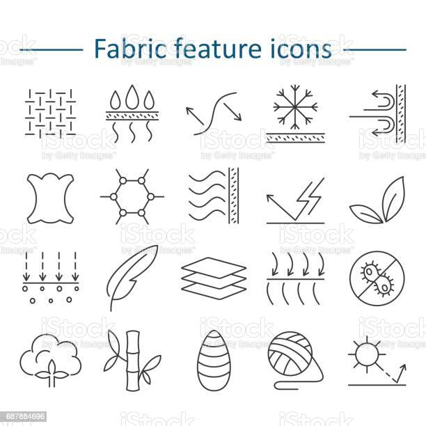 Fabric feature line icons pictograms with editable stroke for g vector id687884696?b=1&k=6&m=687884696&s=612x612&h=djwrz3yjfrqy8ajfk4juj4 ldep2vs2sxvimt o5w6m=