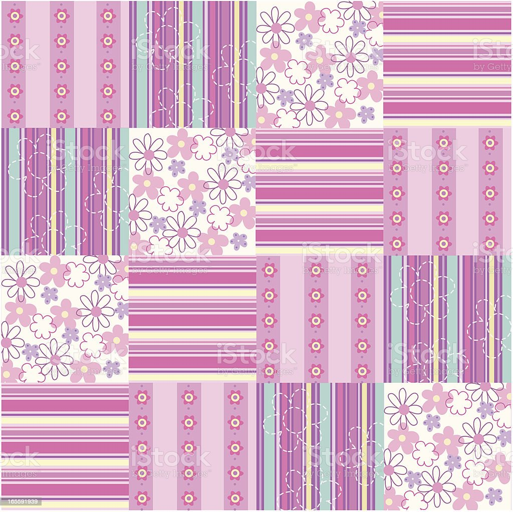 fabric patchwork pattern royalty-free stock vector art