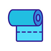 fabric roll icon vector. fabric roll sign. color isolated symbol illustration