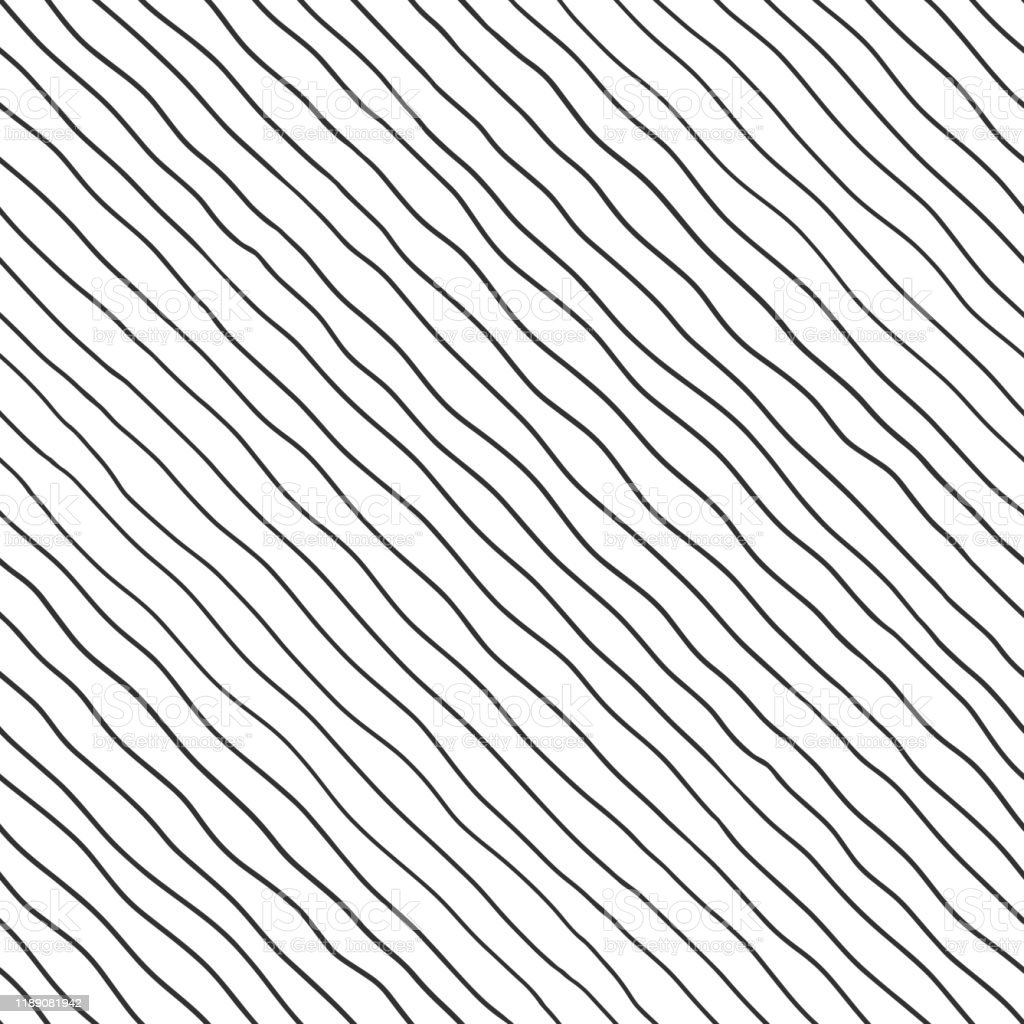 Fabric Seamless Pattern With Textile Line Texture Black On White Background Simple Wallpaper Doodle Stripes Grunge Backdrop Monochrome Design Element Stock Illustration Download Image Now Istock