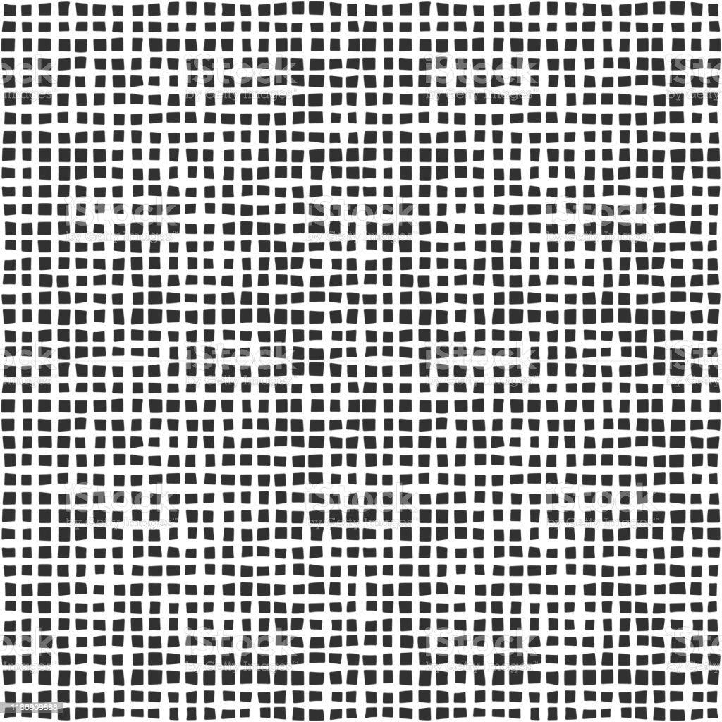 テキスタイルメッシュテクスチャ白い背景に黒のファブリックシームレスなパターンシンプルな壁紙落書きグリッドグランジキャンバス背景モノクロデザイン要素 いたずら書きのベクターアート素材や画像を多数ご用意 Istock