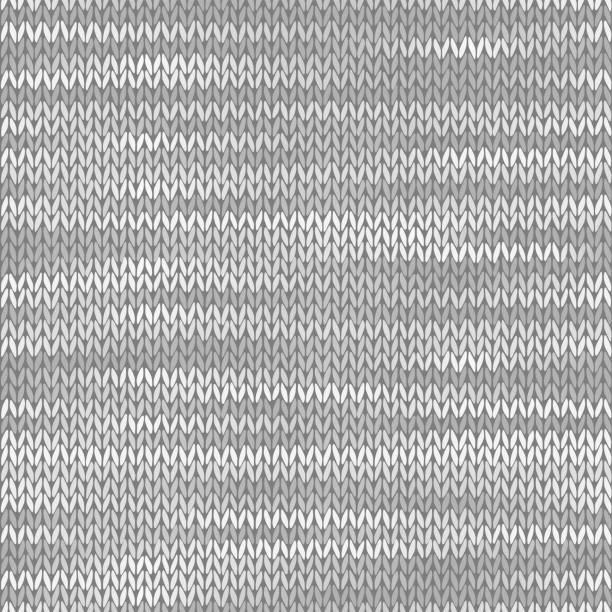 Stoff nahtlose Textur. Melange hellgrauer Hintergrund. Vektor-Illustration – Vektorgrafik