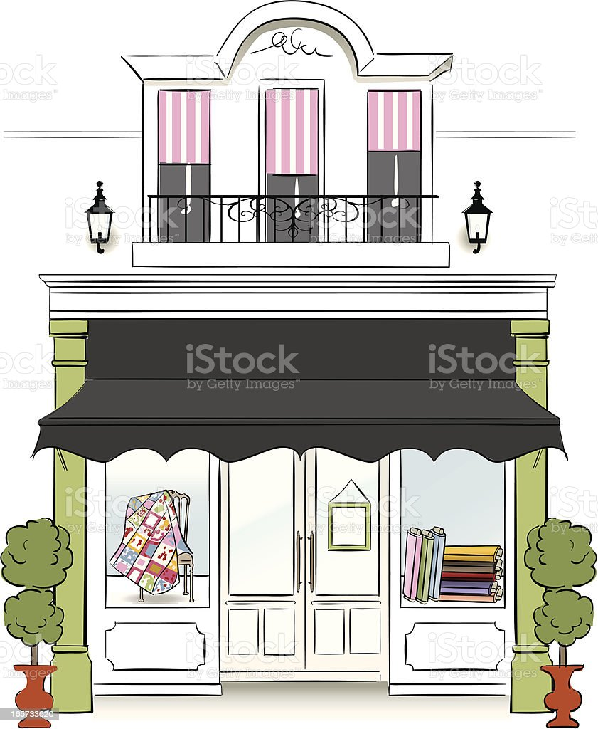 Fabric Store vector art illustration