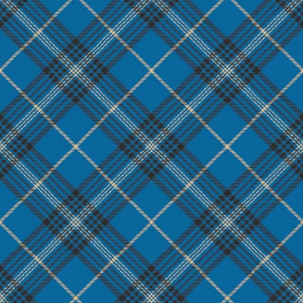 Fabric texture blue check plaid seanless pattern Fabric texture blue check plaid seanless pattern. Vector illustration. alba stock illustrations