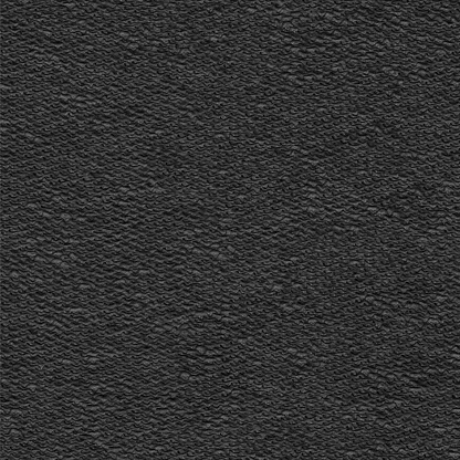 Fabric with visible uneven pulled threads - heavily wrinkled surface with visible wave shapes - soft and rough background in black with 3D effect - vector illustration - upholstery material