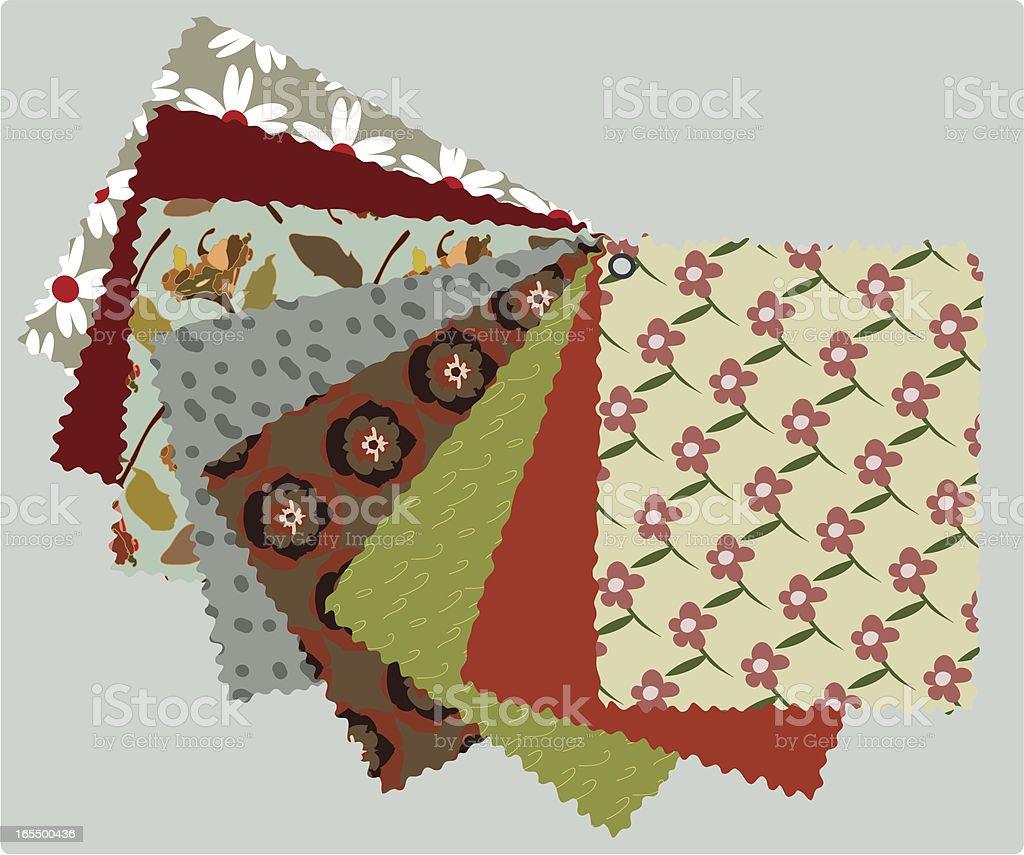 Fabrics vector art illustration