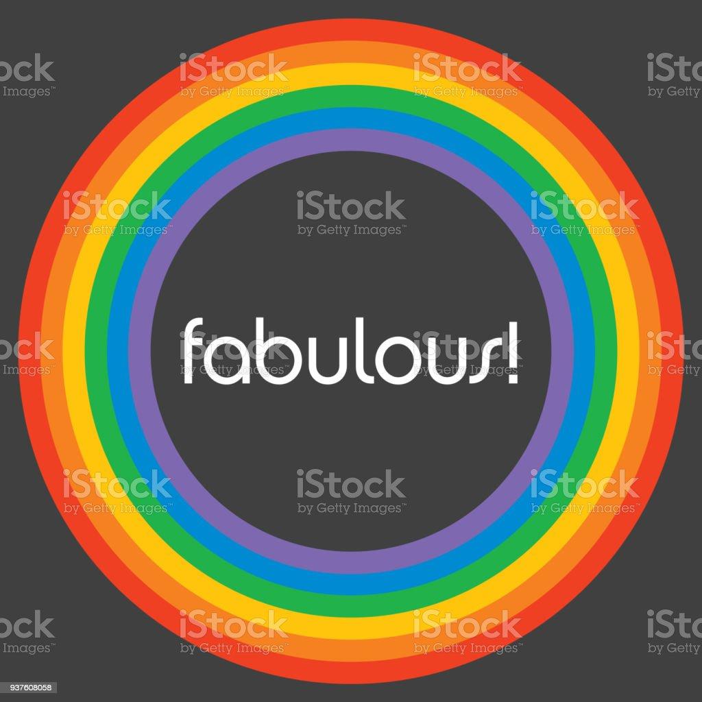 Fabulous Rainbow Circle Background Template. vector art illustration
