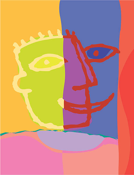 Face background vektorkonstillustration