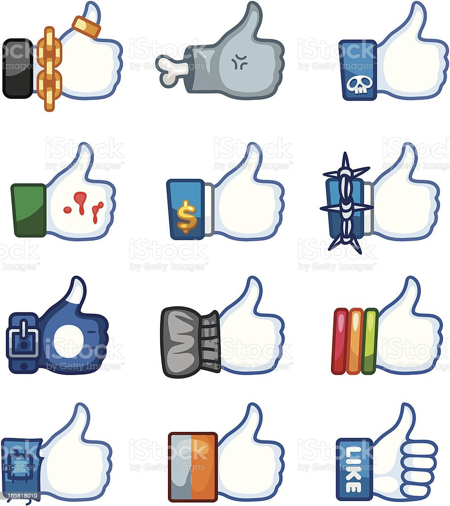 Face book Like Design royalty-free face book like design stock vector art & more images of admiration