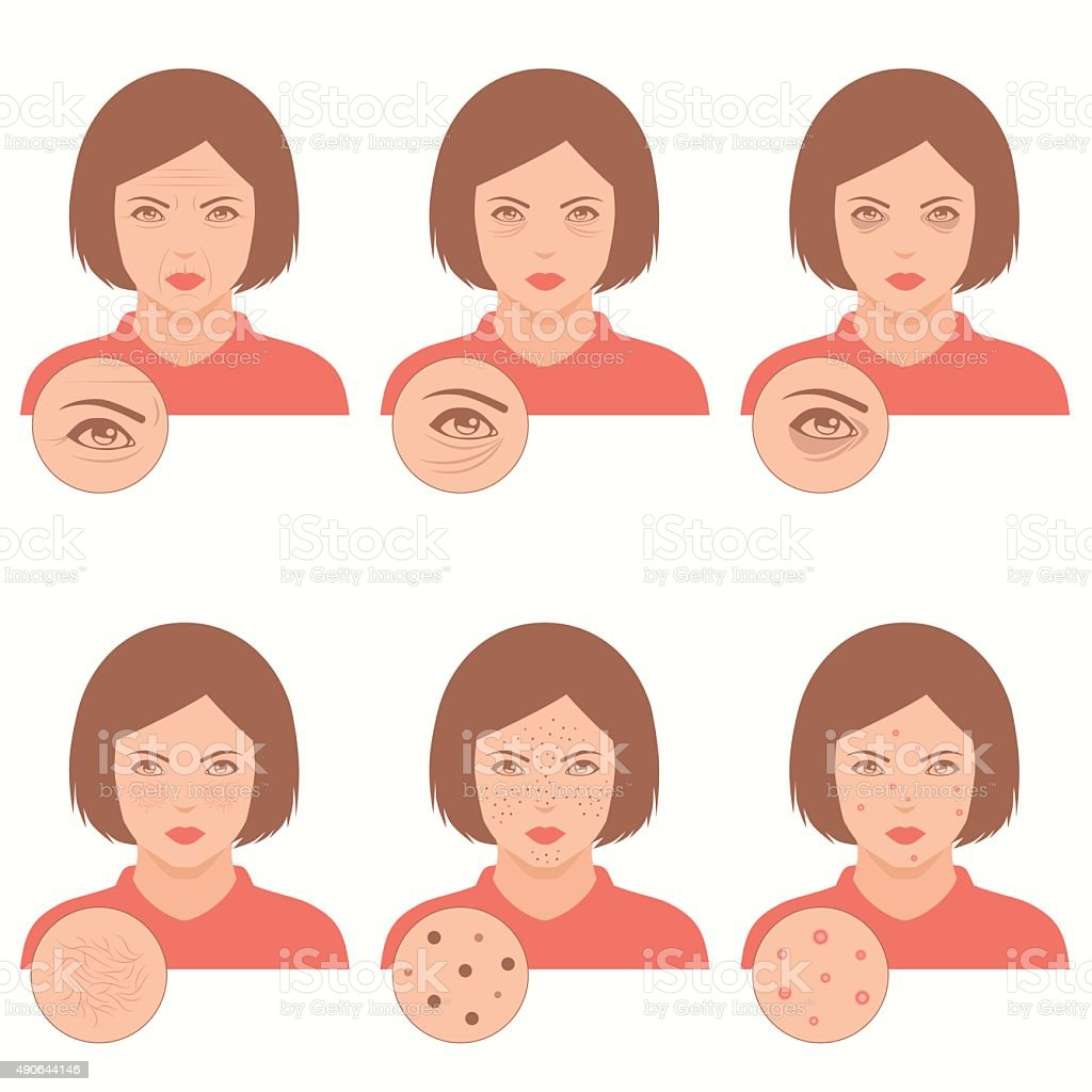face care, vector art illustration