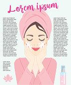 vector, illustration,cosmetology, spa, skin