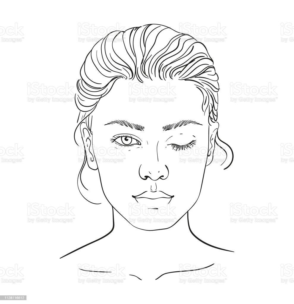 chart Makeup Artist Blank. Template. Vector illustration....