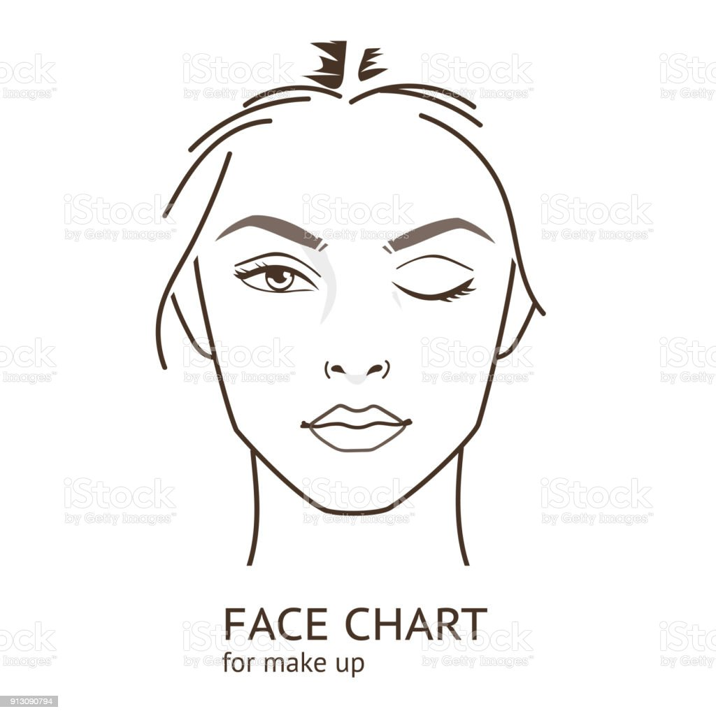 face chart vector art illustration