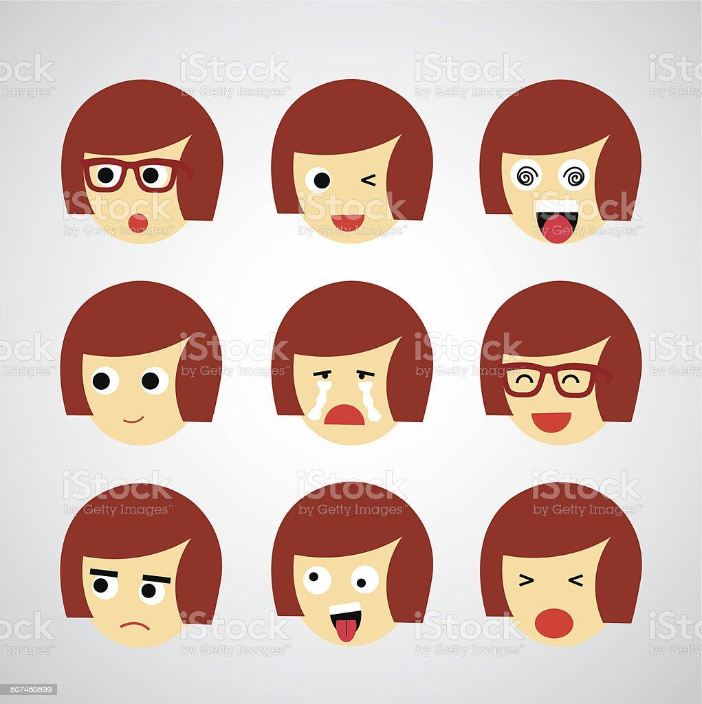 face emotion vector art illustration