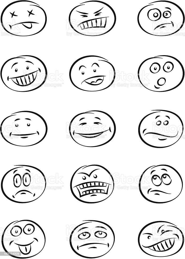 Face expression royalty-free stock vector art