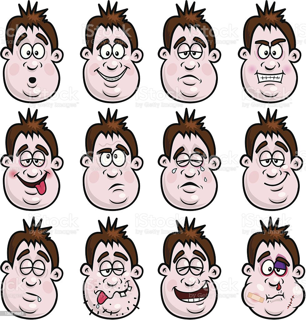 Face Expressions royalty-free stock vector art