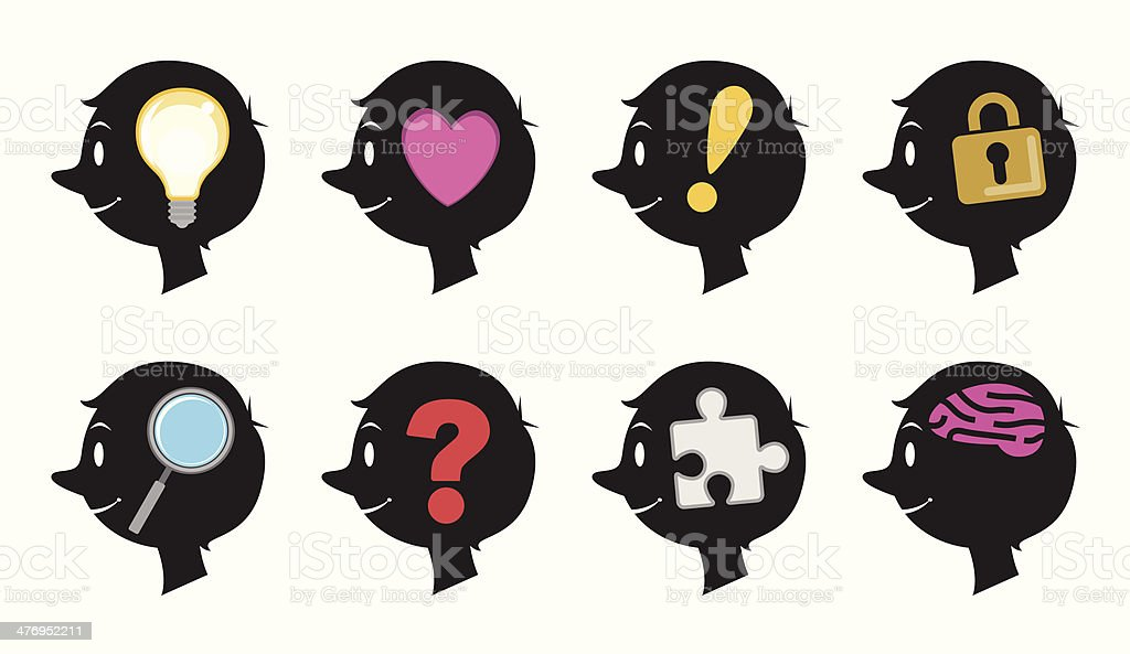 Face Icons royalty-free stock vector art
