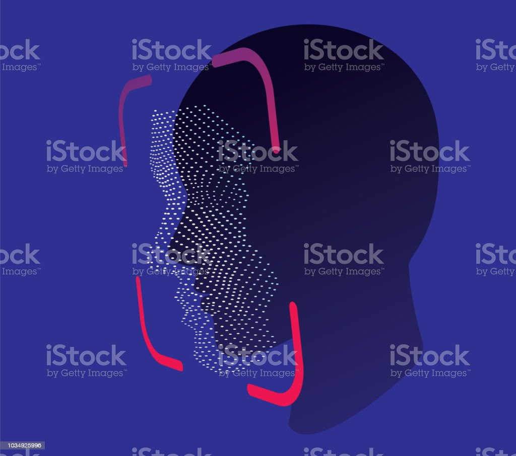 face ID scan vector vector art illustration
