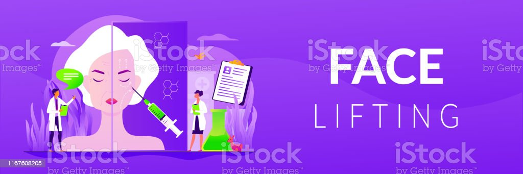 Face Lifting Web Banner Concept Stock Illustration Download