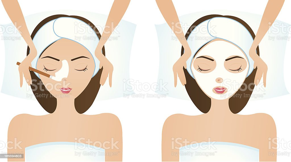 Face Mask 2 vector art illustration
