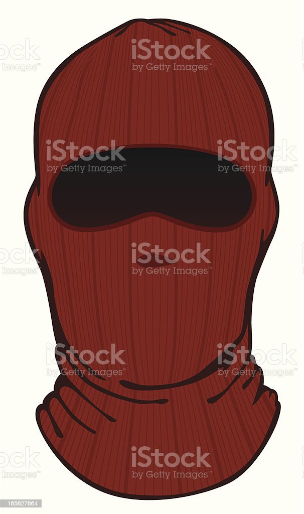 face mask knit vector art illustration