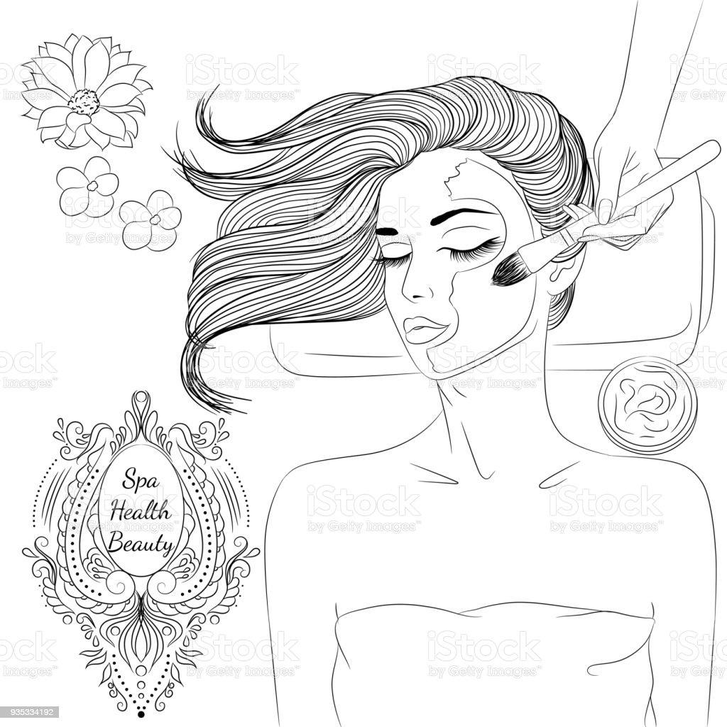 Dessin Au Trait Visage Masque Cliparts Vectoriels Et Plus D Images