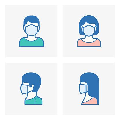 Face mask,  Medical mask icon