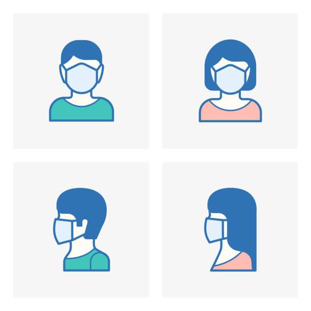 フェイスマスク,メディカルマスクアイコン - マスク点のイラスト素材/クリップアート素材/マンガ素材/アイコン素材