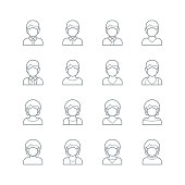 Face mask,  Medical mask icon,vector illustration. EPS 10.