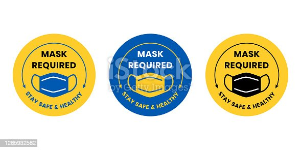 istock Face Mask Required 1285932582