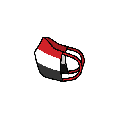 Face mask with the flag of Egypt.