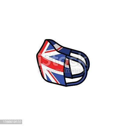 Flat design illustration representing mask. Vector file