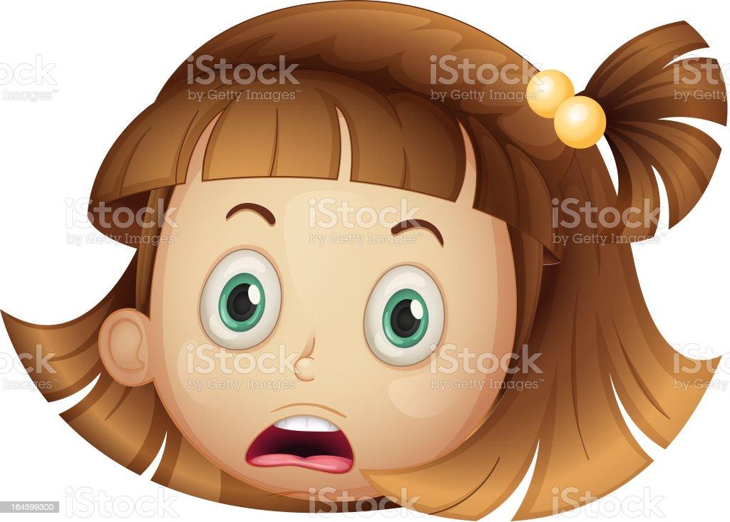 Face of a girl royalty-free stock vector art