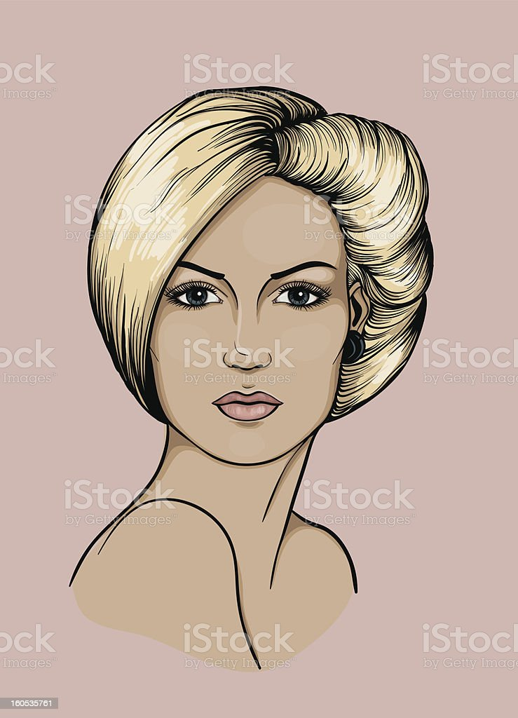 Face of a light haired woman royalty-free face of a light haired woman stock vector art & more images of adult