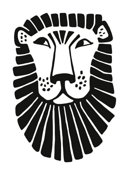 1 503 Black And White Lion Illustrations Royalty Free Vector Graphics Clip Art Istock