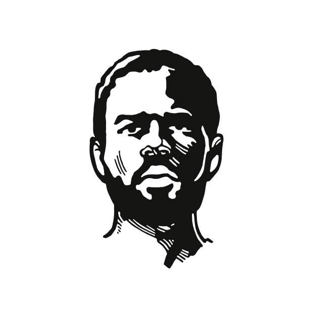 illustrazioni stock, clip art, cartoni animati e icone di tendenza di face of a man - man portrait